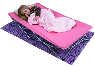 Pink Regalo My Cot Portable Toddler Bed For Girls.