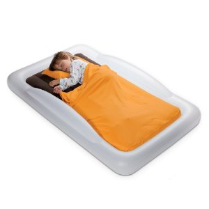 The Shrunks Tuckaire Toddler Inflatable Travel Portable Air Bed for kids.
