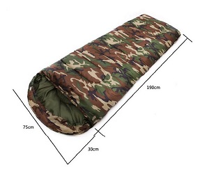 Free Walk Camouflage Envelope Style Sleeping Bag